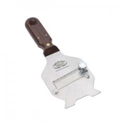 Affettatartufi in acciaio con manico in legno
