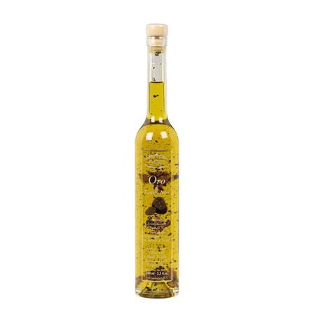 Oro di Tartufo Nero Cond.arom.Tartufo nero a base di olio evo con lamelle di tartufo (0,75%TES) 200ml